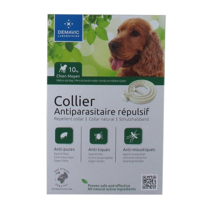 COLLIER INSECTIFUGE ANTIPARASITAIRE REPULSIF CHIEN