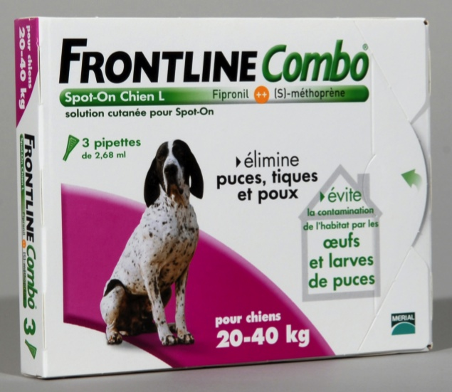 FRONTLINE COMBO SPOT ON CHIEN L (20-40 kg) - Pipette antiparasitaire