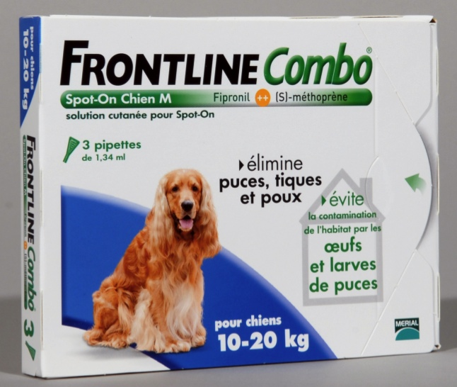 FRONTLINE COMBO SPOT ON CHIEN M (10-20 kg) - Pipette antiparasitaire