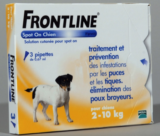 FRONTLINE SPOT ON CHIEN S (2-10 kg) - Pipette antiparasitaire